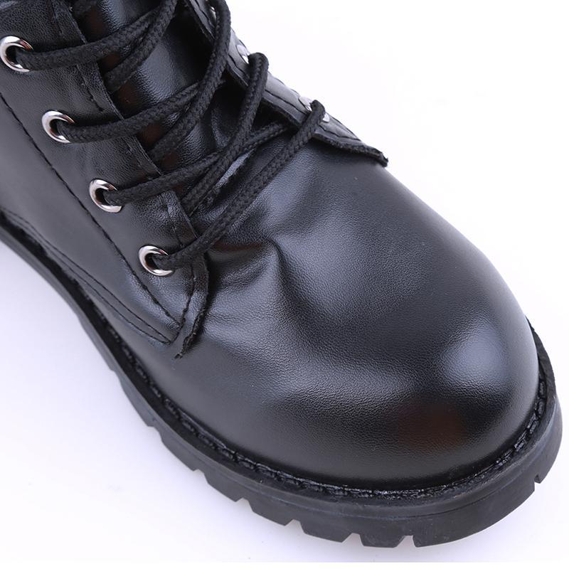 Compre 2017 PU Cuero Mujeres Botas De Invierno Cálido Zapatos Botas Feminina Moda Femenina Motocicleta Botines Mujeres Botas Mujer OR914442 A $22.28