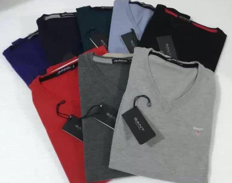 2018Fashion Европа и Соединенные Штаты бренд V-образным вырезом человек свитер 7-цвет кашемира 80% повседневная вязание джемперы свитера