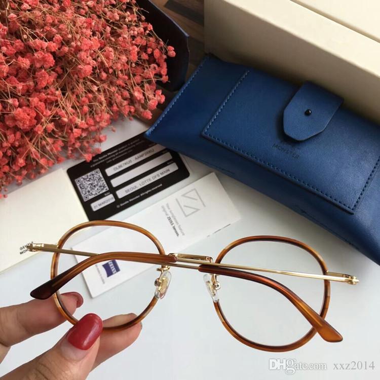 2019 Korea-star V-glasses Retro-Vintage round frame 50-23-145super-light prescription glasses with full-set case