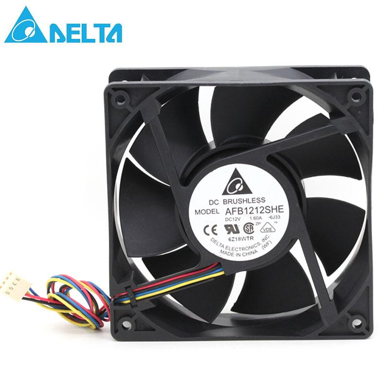 Delta AFB1212VHE DC Fans 120x120x38mm 12V DC Fan