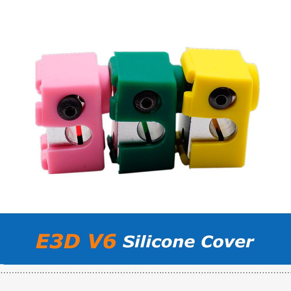 10PCS V6 Heating Block Silicone Sleeve for 3D Printer V6 Aluminum Block Hot End.