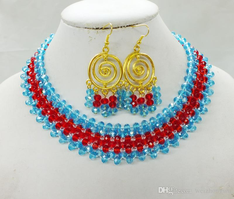 wwz-983 # Promotional Stock !! New Arrival African Nigerian Beads necklace set Crystal necklace set