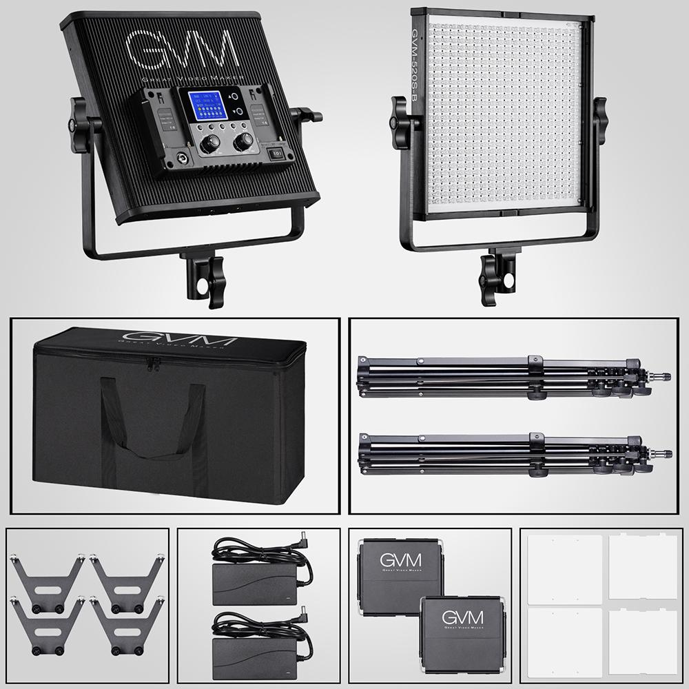 CRI97 // 3200-5600k // Photography Lighting for Studio Outdoor Video Tracking Indoor GVM Led Video Light with Memory Button and Wireless Remote Control