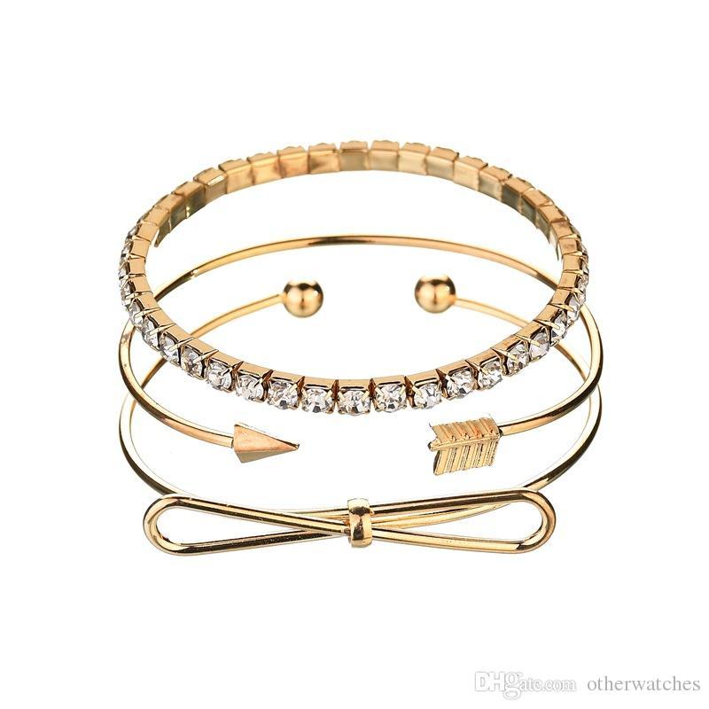Стрелка галстук-бабочка Браслет из трех частей браслеты