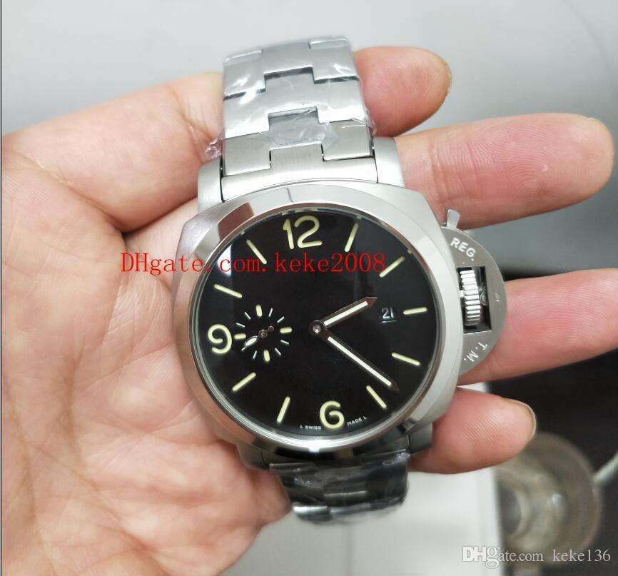 premium selection bb43a 67d67 Compre Reloj De Lujo De Alta Calidad Para Hombre GMT PAM00238 42mm Acero  Inoxidable Azul Luminescente Automático De Relojes Mecánicos Para Hombre ...