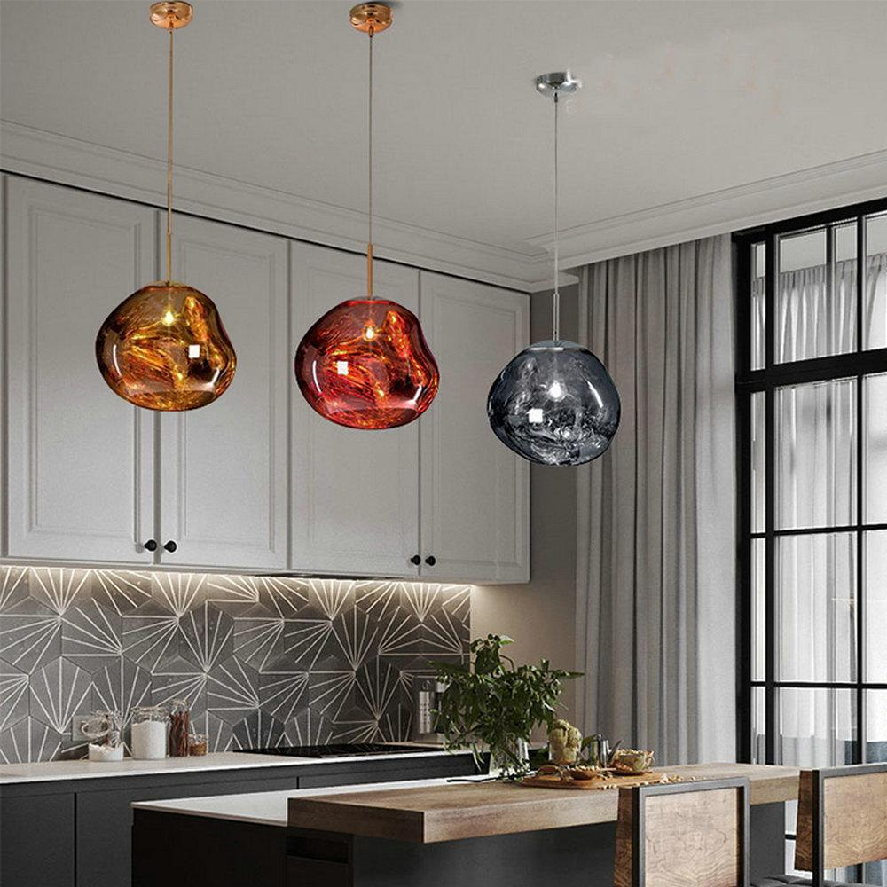 Lampade A Sospensione Cucina vintage modern led loft nordic decor gold glass pendant lights fixtures  hanglamp industrial design lamp for kitchen island bedroom dining ro  hanging