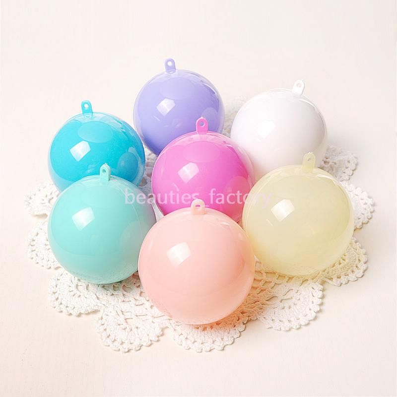 50 Colorful Hang Balls Christmas Tree Decoration Sweets Candy Gift Favour Box Wedding Decoration 8cm Plastic Ball