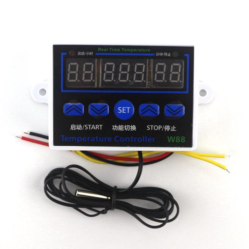 SODIAL 220v Sonde De Commutateur De Commande De Thermostat Du R/égulateur De Temp/érature 10a Digital Led