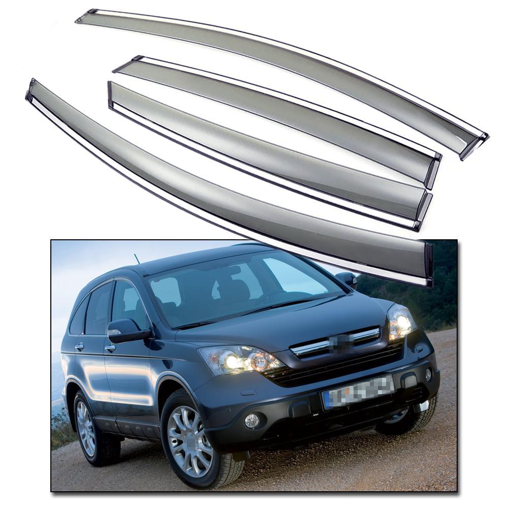 Yeni Ön Arka Yan Pencere Visor Deflectors Havalandırma Gölge Honda CR-V 2007-2011 için fit 08 09 10