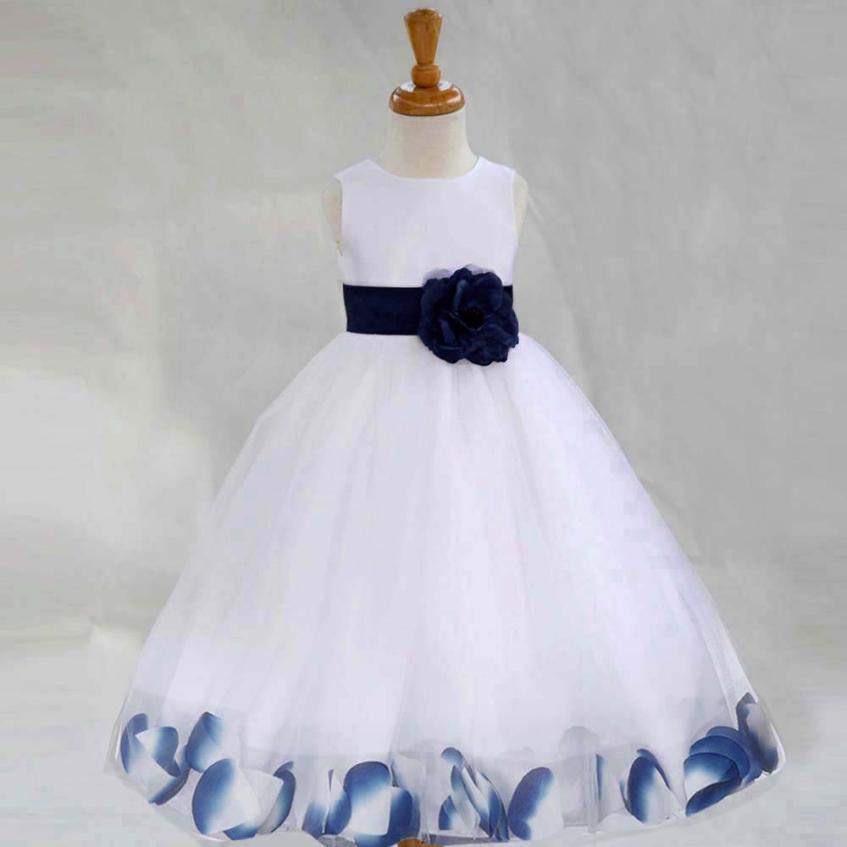 Vestiti Eleganti Da Bambina.Acquista Vestito Da Ragazza Di Fiore Da Sposa Bambina Vestito Da Cerimonia Principessa Festa Da Spettacolo Vestito Da Bambino Bambina Damigella