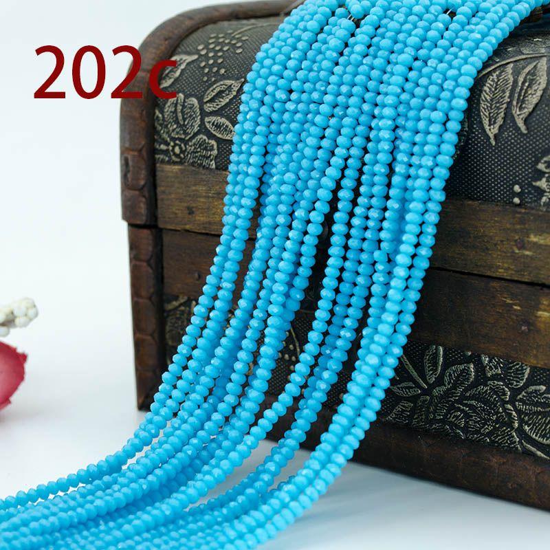 Bicone vidrio esmerilado perlas aprox 6mm tinta azul a partir de 25stk