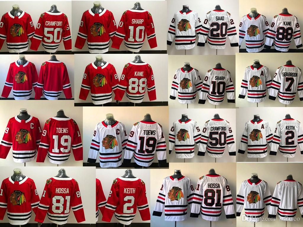 various colors 00062 5f49f 2019 Hockey Jerseys 2018 Chicago Blackhawks Jersey 72 Artemi Panarin 2  Duncan Keith 88 Patrick Kane 19 Jonathan Toews 50 Corey Crawford From  Hdkoco, ...