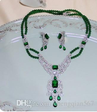 wunderbare Farbe cystal Diamant Hochzeit Braut Dame Set Halskette Armband (185) rtr