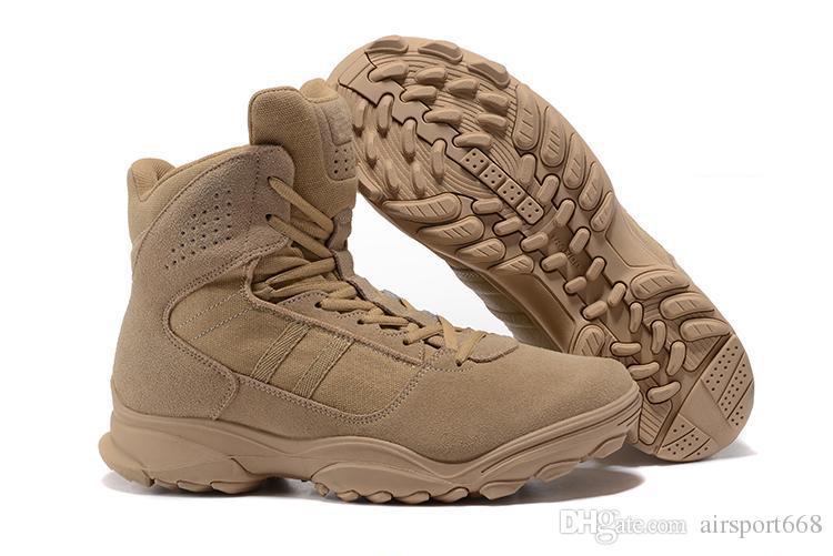 2020 2018 GSG 9.3 Special Help Desert Tactics Men Climbing Hiking Combat Training Running Shoes Outdoor Tactical Boots Desert Boots Size 40 46 From