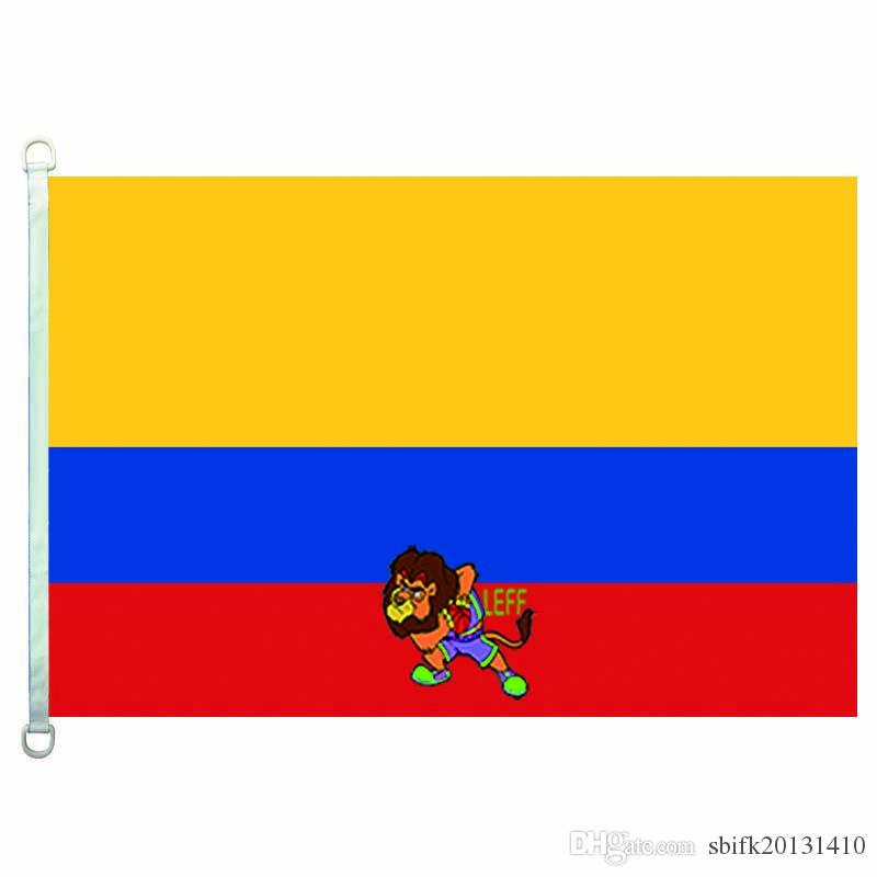 Kolombiya bayrağı bayrak, 90 * 150cm,% 100 polyester, afiş, Dijital Baskı