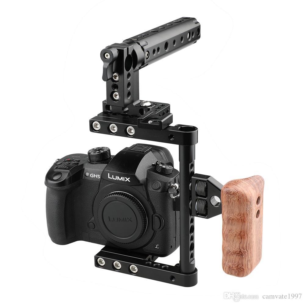 Support pour cage de caméra CAMVATE avec plaque de montage pour trépied à poignée supérieure pour Canon Nikon Sony Panasonnic