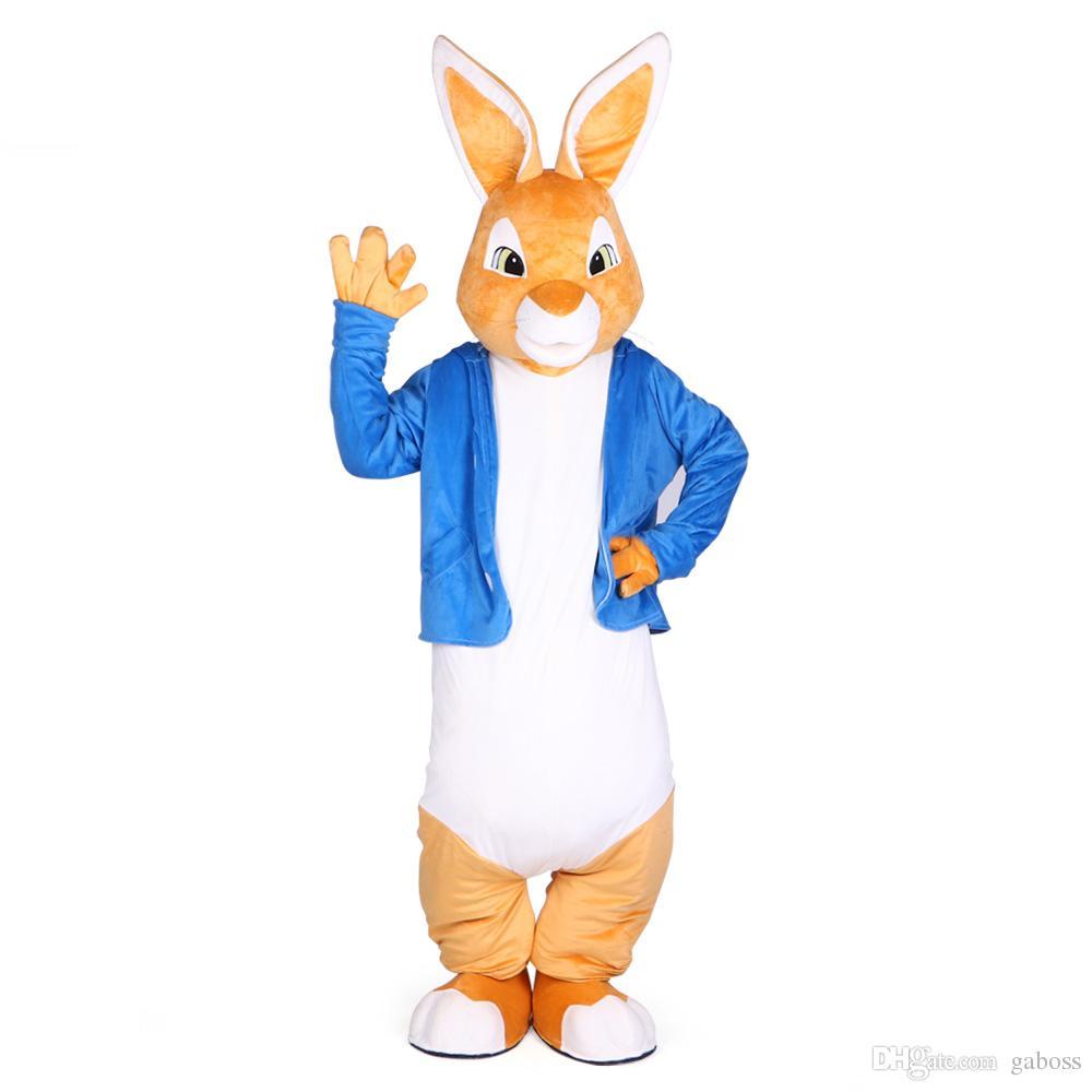 Disfraces de mascota de Peter Rabbit Disfraz de mascota de conejito Traje de mascotas unisex de Navidad Disfraz de adorno para fiesta de halloween Animal marrón