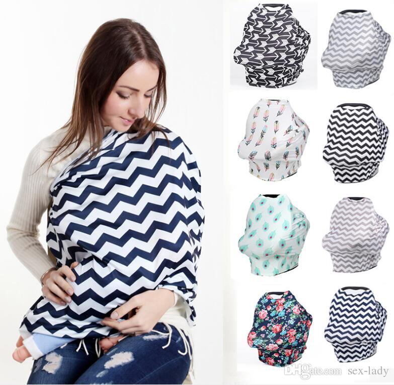 Baby Car Seat Canopy Cover Breastfeeding Nursing Scarf Cover Up Apron Shoping Cart Infant Stroller Sleep By Nursing Cover Blowout