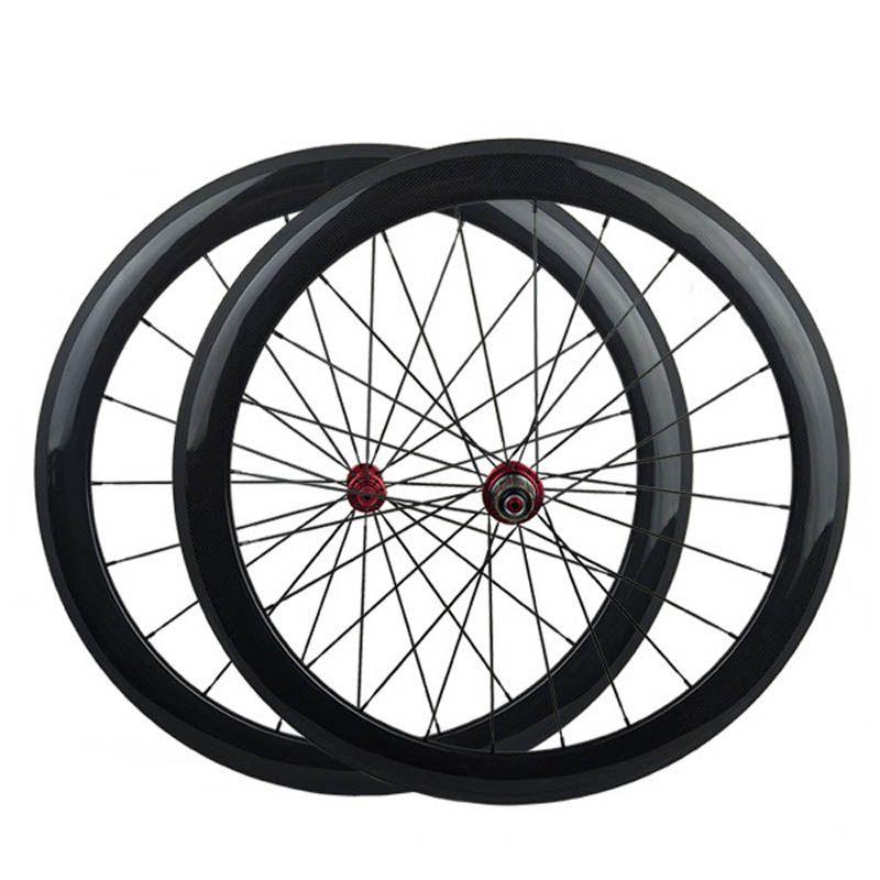 الكربون العجلات الفاصلة الأمامية والخلفية 700C الطريق الدراجة العجلات Powerway R13 المحور أفضل جودة