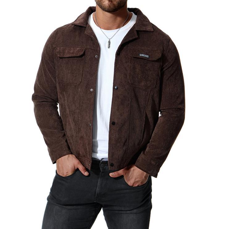 أحدث تصميم كودري سترات الرجال عارضة معطف الخريف يتأهل جيوب مزدوجة الرجال جاكيتات مريحة قميص أسود 4xl