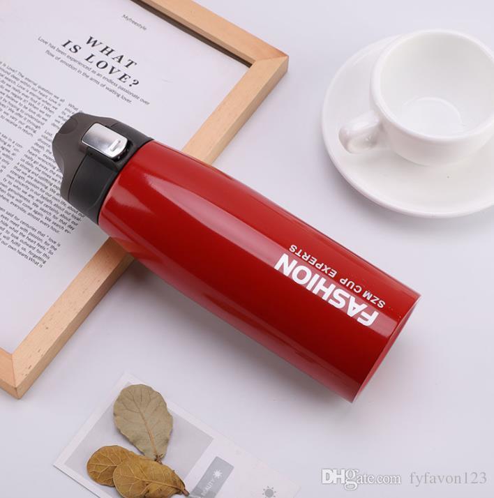 750 ml flasche OUTDOOR Duckbill becher Tumbler Edelstahl Bier Tasse Vakuum Isolierte Tassen Mit Deckel Warm Halten J32