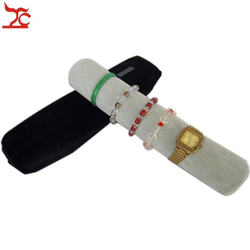 Bolso del organizador de la joyería de la manera con la barra de la almohadilla Barra del sostenedor del reloj Organizador de la joyería Bolso del rodillo Bolso del balanceo del recorrido de la joyería