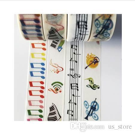 jiataihe washi klebeband sticker kawaii briefpapier Musiknoten klebeband Musik nicht klebend Scrapbooking Klebeband 2016