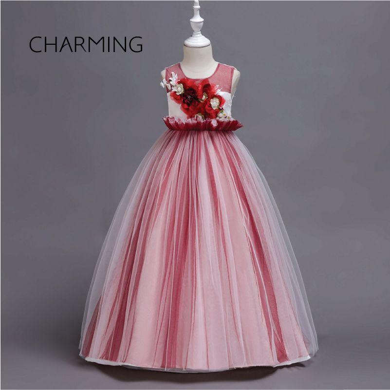 Compre Vestidos Bonitos Para Niñas Para Niña Vestido De Niña De Las Flores Vestido De Princesa Fiesta De Cumpleaños Pettiskirt Coño De Rendimiento De
