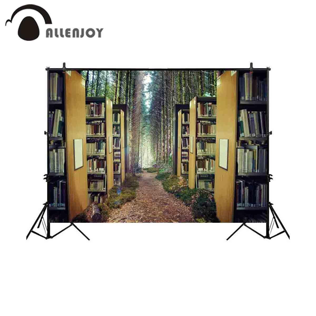 الجملة التصوير خلفية الخيال رف الكتب غابة خرافة خلفية photobooth استوديو صورة المتصل دعامة النسيج