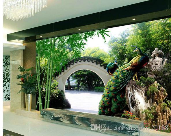 На заказ любой размер фото свежий сад 3D ТВ фон стены современные обои для гостиной