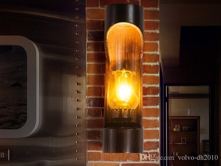 Tubo de bambú estilo loft LED lámparas de pared lámpara de pared de la vendimia para las escaleras de noche aplique de pared iluminación interior Lampara Pared LLFA