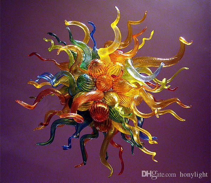 Lámpara de color multicolor arañas pequeñas esplendor chino luces arte fantástico arte decoración de cristal murano colgante lámparas lámparas de luz LED fuente de luz
