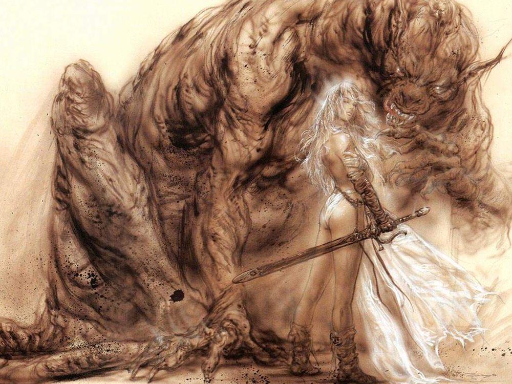 Acquista Luis Royo Fantasy Art Bellezza E Bestia, Riproduzione ...