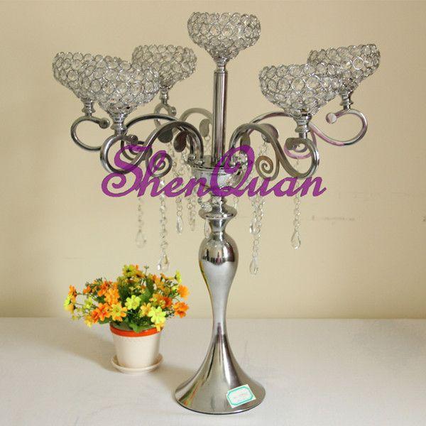 Crystal Globe Votive Tealight Tall Candle Holder Candlestick Bowl Stand Wedding Centerpiece,Black Tall Wedding Decorative candelabra