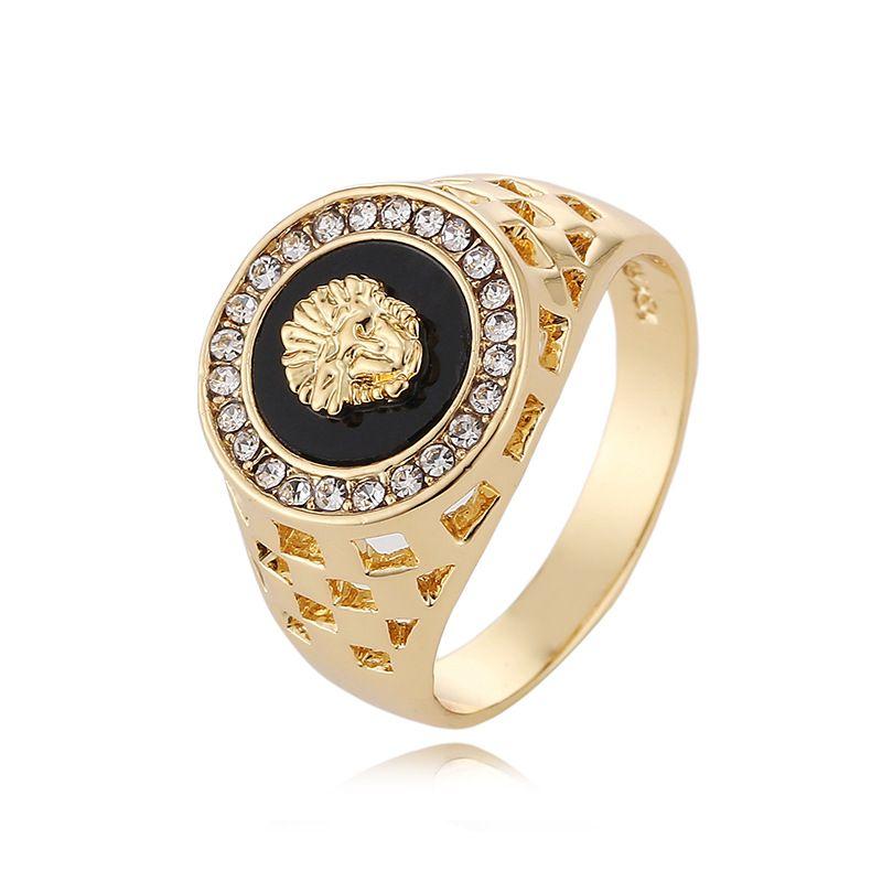 2017 خمر ذكر خاتم الذهب للمجوهرات حلقة الرجال الزفاف خواتم الخطبة الشرير الصخرة الرجال السائق ل