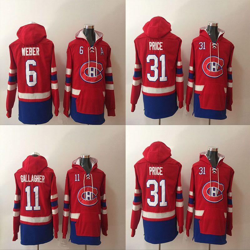 2017 Montreal Canadiens Hoodie 6 Shea Weber 11 Brendan Gallagher 31 Carey Fiyat Hoodie Kazak Hokeyi Formalar