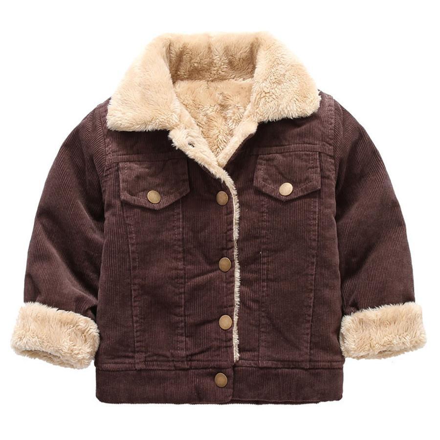 Faux Pelzkragen Von Dicken Parka Mantel Kidsmart9 Für Kinder Cordjacken Europäischen Mode Jungen Großhandel Steppjacke Winter Gelb Warm y76gbf
