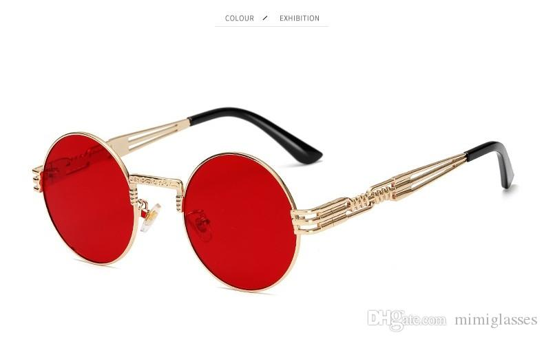 Sunglasses Steampunk Sunglasses Fashion Vintage Vidano Men Women Brand Round Metal Designer Retro Optical Glasses Hotaf