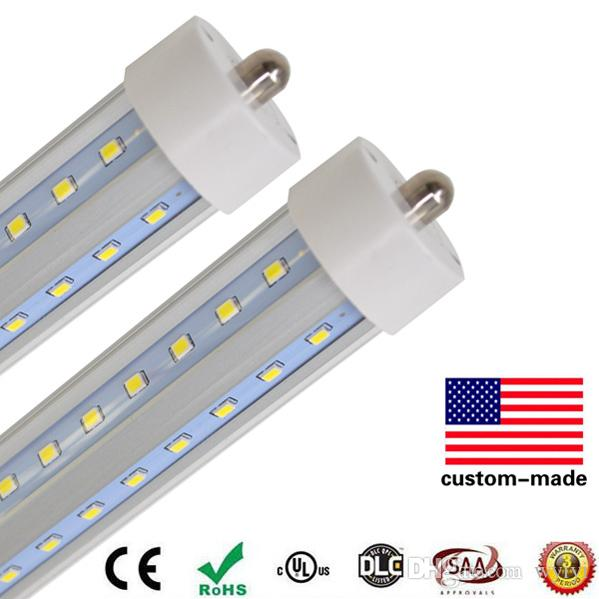 perno singolo LED Tube lampada t8 Fa8 60W SMD2835 90-265V 8 piedi 2400mm alta luminosità, risparmio energetico