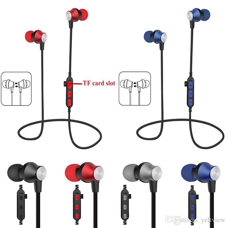 Auriculares Bluetooth Magnetic Sport Running Auriculares Auriculares inalámbricos Soporte Tarjeta TF Auriculares con Micrófono buen sonido Universal con paquete
