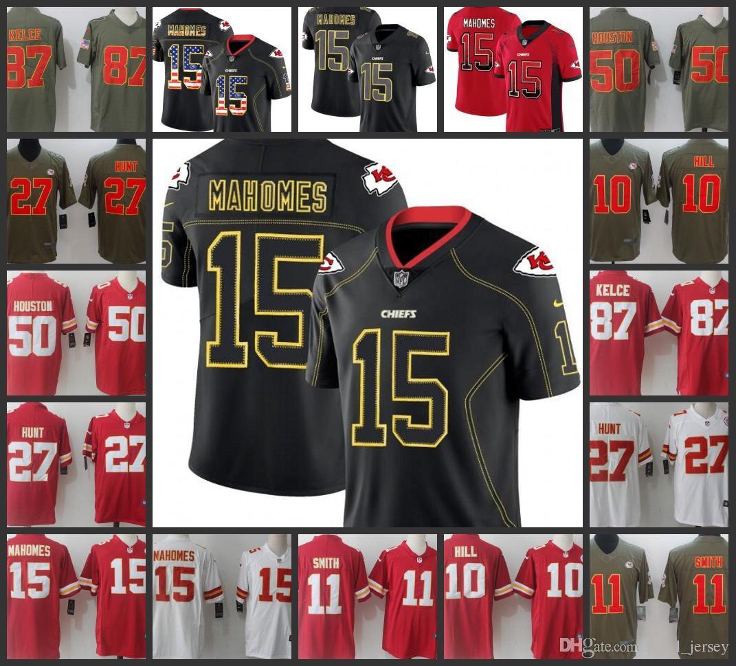 10eba4a7 2019 Kansas City Chiefs Man Jersey #15 Patrick Mahomes 11 Alex Smith 87  Travis Kelce 27 Kareem Hunt Women Youth Football Jerseys From  Outletjerseys_1, ...