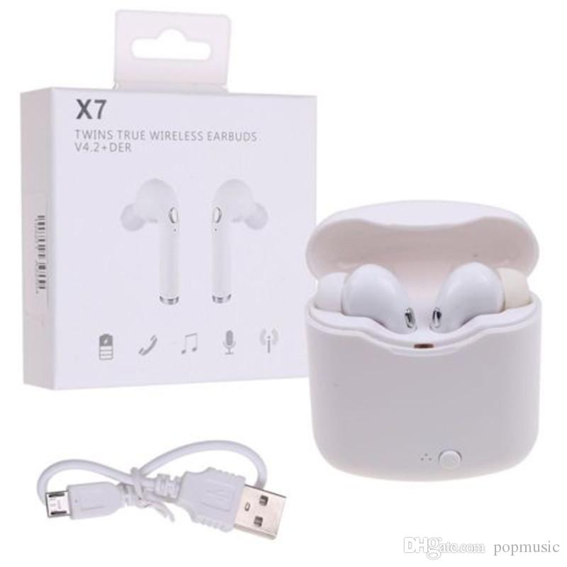 X7 Tws Wireless Bluetooth Earbuds Earphone With Charger Box For Iphone Samsung Huawei Xiaomi Android Universal Best Headphones For Running Best Wireless Earbuds From Popmusic 11 09 Dhgate Com
