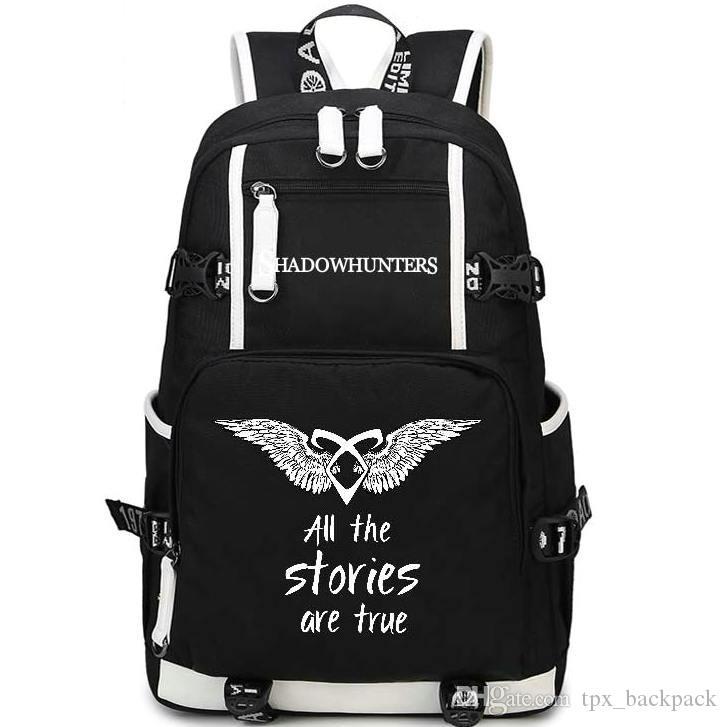 Shadowhunters ظهره الظل الصيادون يوم حزمة القصص الحقيقية حقيبة مدرسية الترفيه حزمة حقيبة الظهر الرياضة الرياضة المدرسية في الهواء الطلق daypack