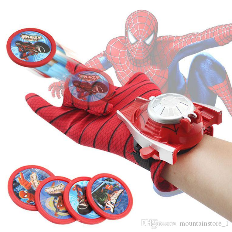 New Coming Kids Spider Iron Bat Launcher Gloves Children Action Figure Toys Boys With Retail Box (5 Model)