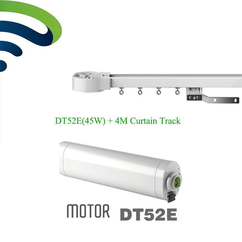 Sistema de cortina eléctrica Ewelink Dooya DT52E 45W Motor de cortina con control remoto + 4M Rieles de aluminio motorizados