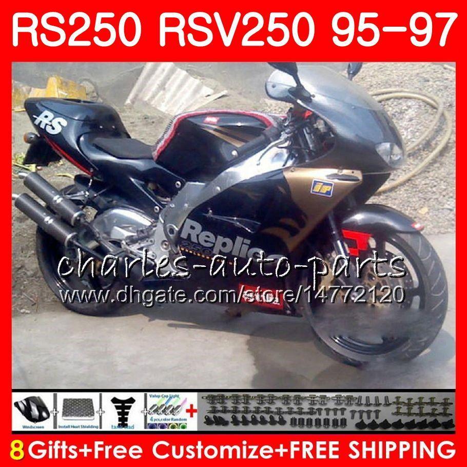Nadwozie dla Aprilia RS-250 RSV250 RS250 95 96 97 Body 101HM.1 Złoty czarny RSV250RR RS250R 95 97 RSV 250 RR RR 250 1995 1996 1997 Owalnia