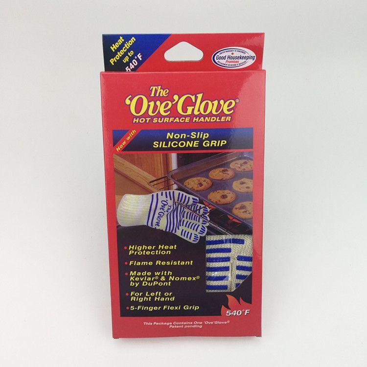 O Ove Glove Microondas Luva 540 F prova de calor resistente Cozinhar à prova de calor Forno Mitt Luva Superfície quente Handler GGA