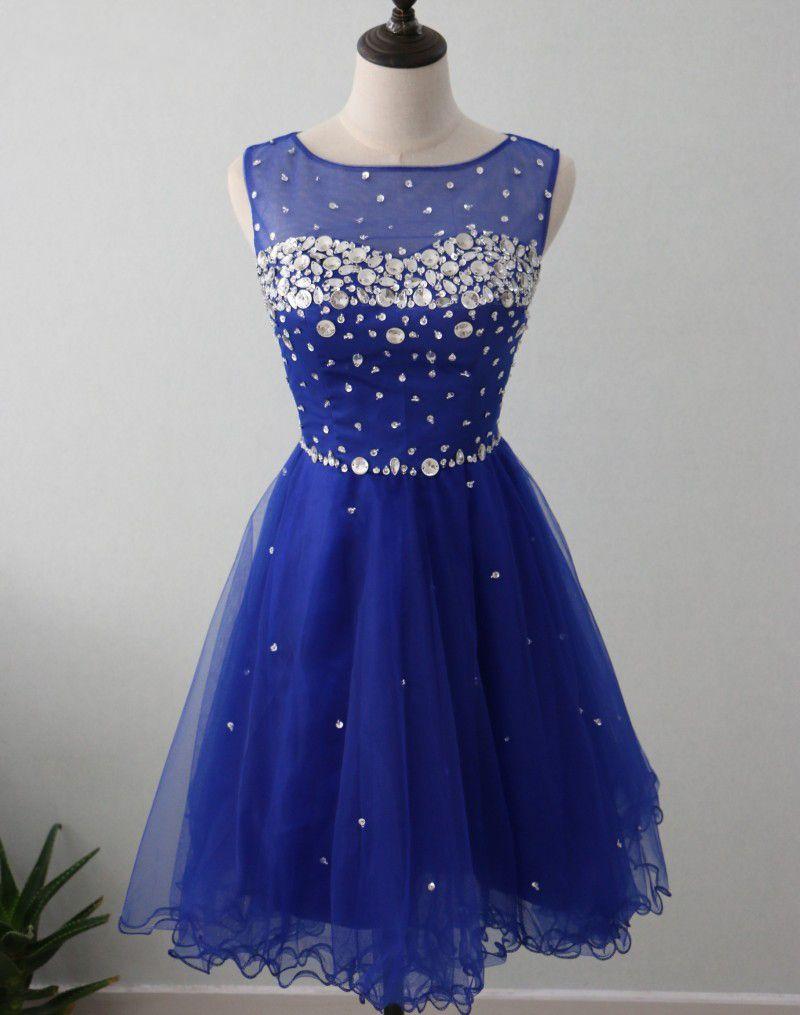 Compre 2018 Vestidos De Graduación Lindos Royal Blue Vestidos De Fiesta Cortos Para El Vestido De Fiesta De Cóctel De La Escuela Secundaria Vestidos
