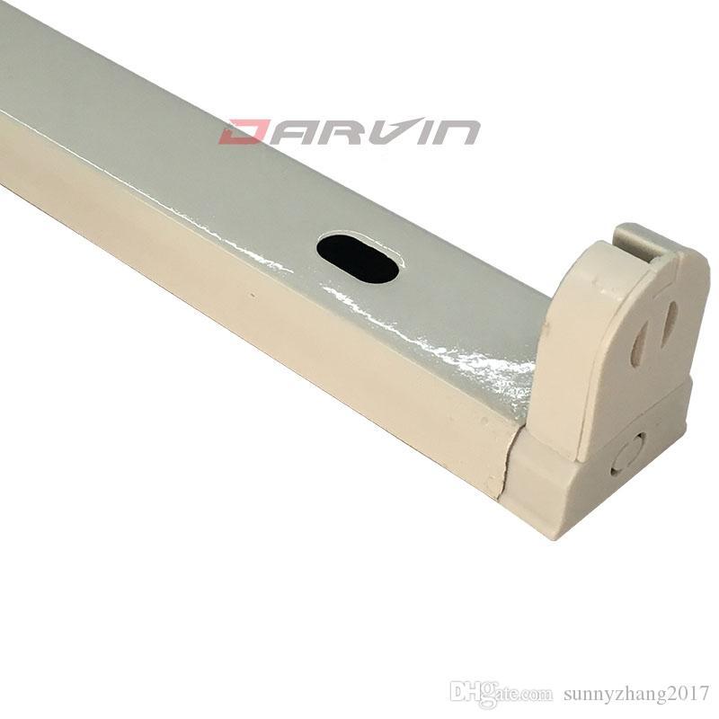 6pcs T8 Fixture 아이언 통합 Led 튜브 지원 브래킷 4 피트 1.2 m Led 튜브 고정 장치 더블 끝 무료 배송