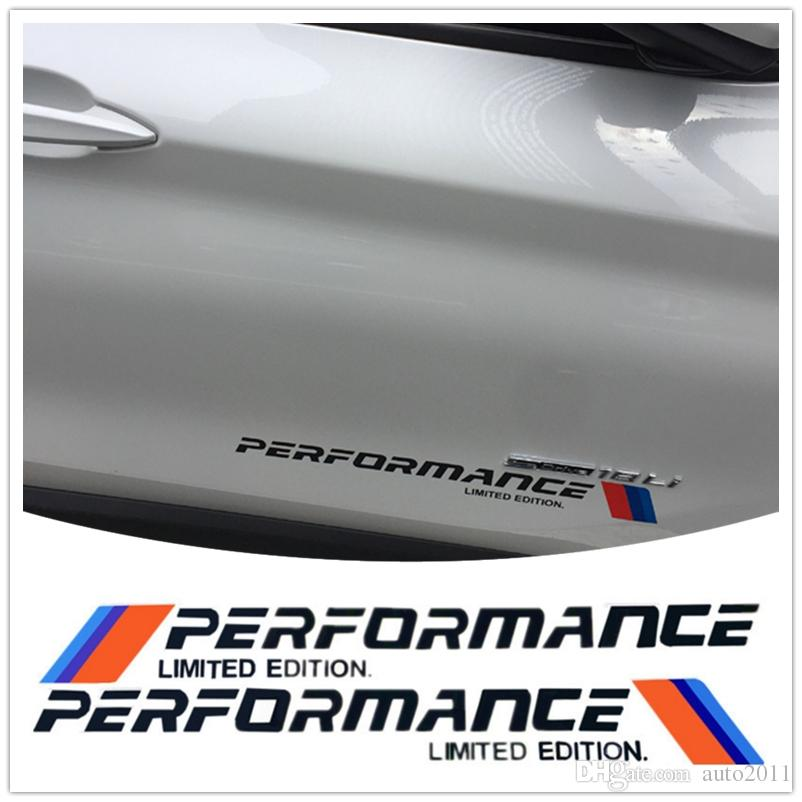 Adesivi Car Styling M Performance Sticker Adesivi per auto per BMW Mini Cooper M3 M5 x1 x3 x4 x5 x6 Decalcomanie lettera nastro riflettente
